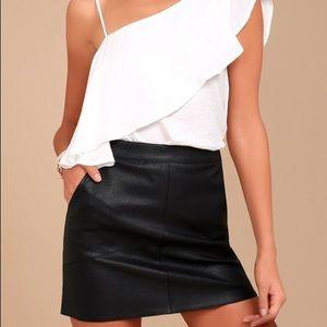 Lulus Harley Vegan Leather Mini Skirt XL NWOT